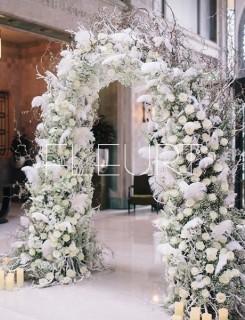 Virágkapu esküvőre