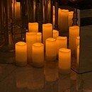 LED gyertyák dekorációbérlés