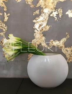 Fehér diszkosz váza
