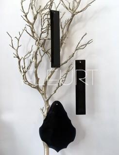 Plexi díszek - fekete