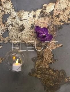 Akasztható üveg mécsestartó gömb