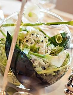 Üveggömb váza- nagy