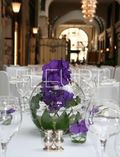 Üveggömb váza - közepes
