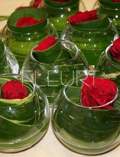 Üveggömb váza - kicsi