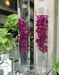 Áttetsző cilinder váza - nagy