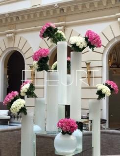 Fehér cilinder váza - nagy
