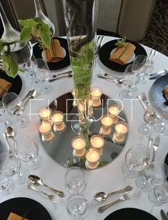 Üveg mécsestartó pohár betéttel