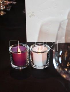 Hengerüveg mécsespohár